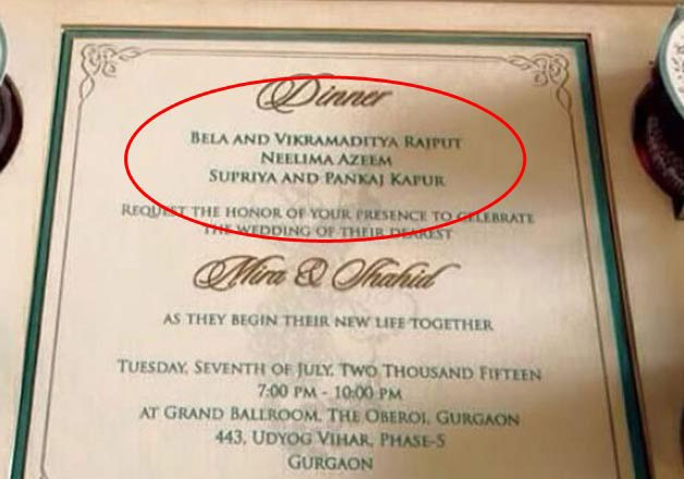 Wedding Gift Check Both Names : Shahid-Mira Wedding Celebrations: A day before the wedding