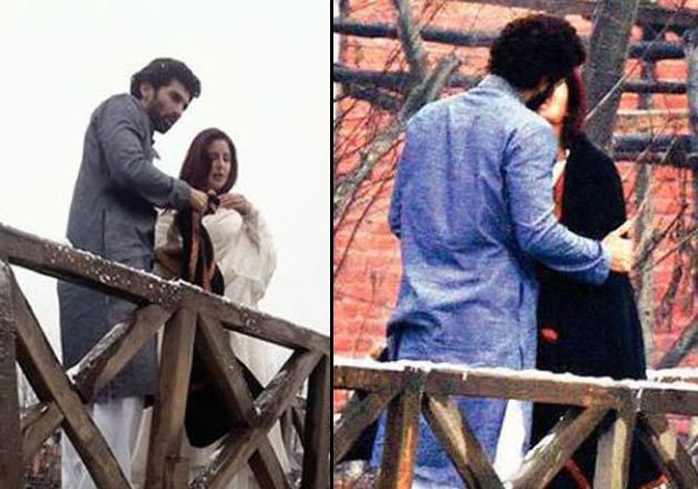 Aditya Roy Kapur and Katrina Kaif on the sets of Fitoor