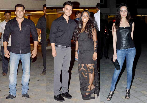 .B-town celebs at Arpita Khan birthday bash
