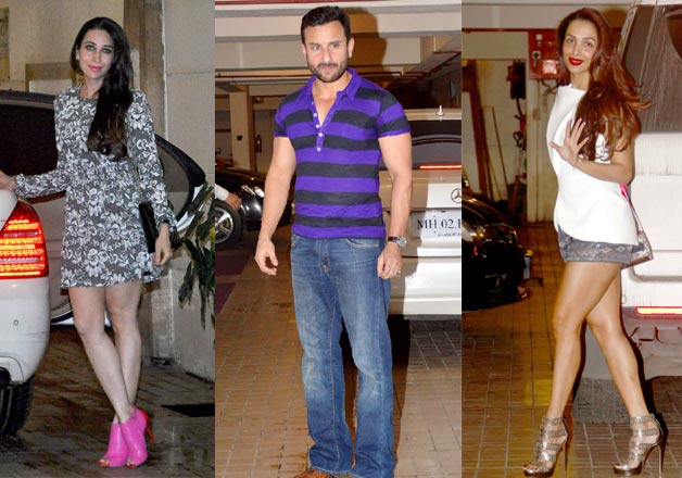 .Celebs at Chote Nawab Saif Ali Khan birthday bash