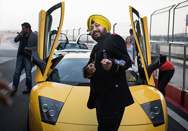 Daler Mehndi with Deadmau6 on F1 track