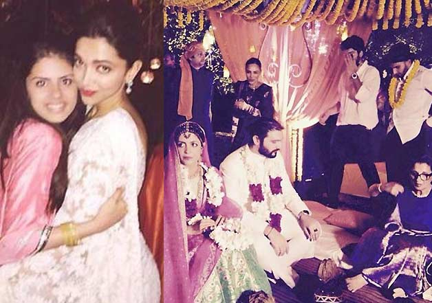 Deepika Padukone Ranveer Singh spotted at Delhi wedding