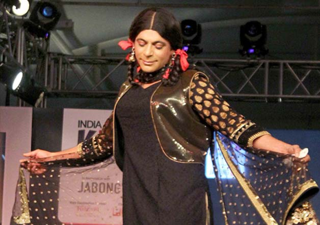 Gutthi walks the ramp at Kids Fashion Week
