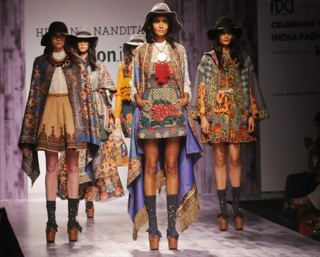 India Fashion Week 2015: Dark hues and busy prints rule the Day 2