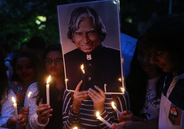 .India mourns the death of former President Dr. APJ Abdul Kalam