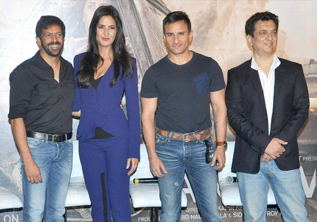 .Kabir Khan, Katrina Kaif, Saif Ali Khan at Phantom trailer launch