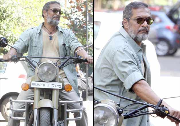 Nana Patekar rides Bullet while promoting Ab Tak Chhappan 2