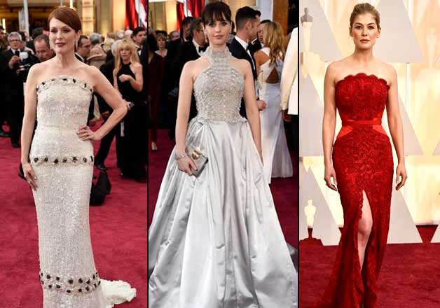 Oscars 2015 high on red, silver and bling