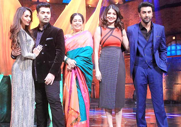 Ranbir Kapoor Anushka Sharma promote Bombay Velvet on TV show