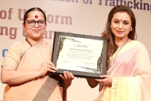 Rani Mukerji receives National award for highlighting women safety