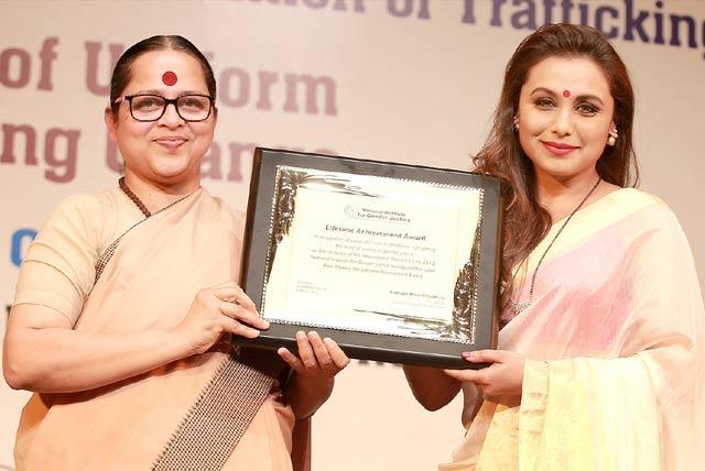 Rani Mukerji receives National award for highlighting women safety