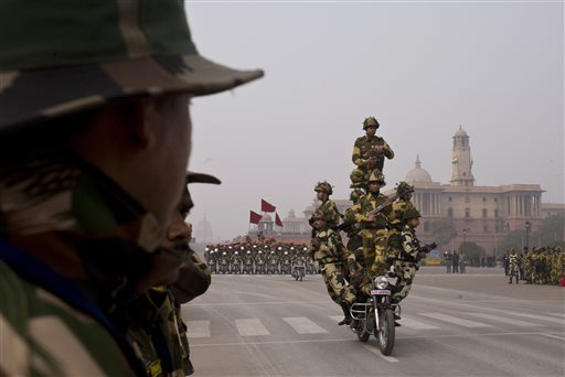 Republic Day parade 2015 rehearsal