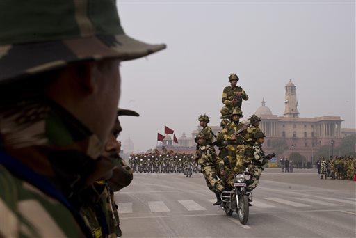 Republic Day parade 2015 rehearsal