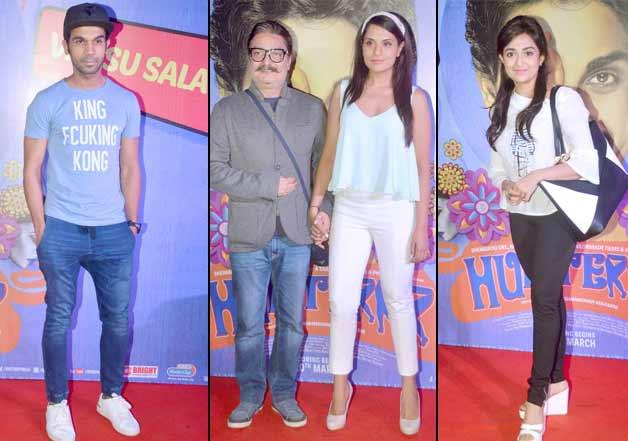 Richa Chaddha, Rajkumar Rao, Vinay Pathak at Hunterr movie premiere