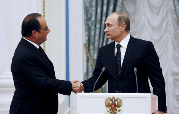 .Russia, France unite to strike Islamic State targets