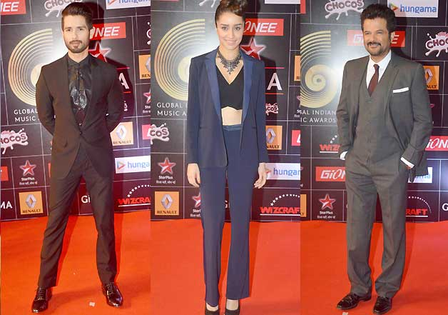 Shraddha, Shahid and Anil Kapoor dazzle at GIMA Awards 2015