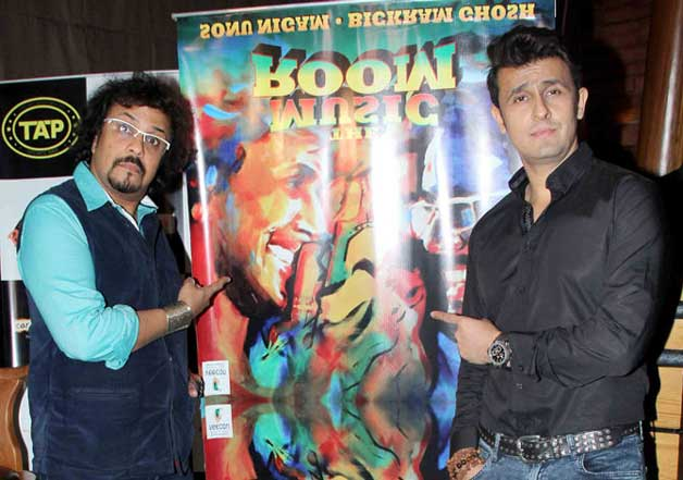 Sonu Nigam, Bickram Ghosh at launch of The Music Room