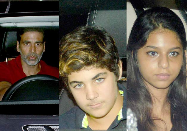 Suhana Khan, Aarav Bhatia spotted at special screening of Brothers