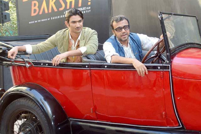 Sushant and Dibakar at Byomkesh Bakshi trailer 2 launch