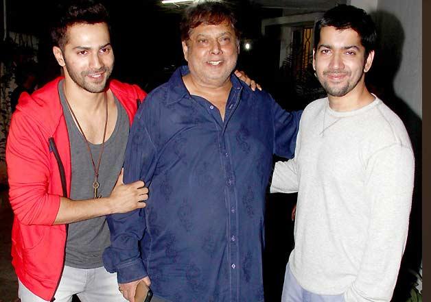 Varun Dhawan & his special guests at Badlapur screening