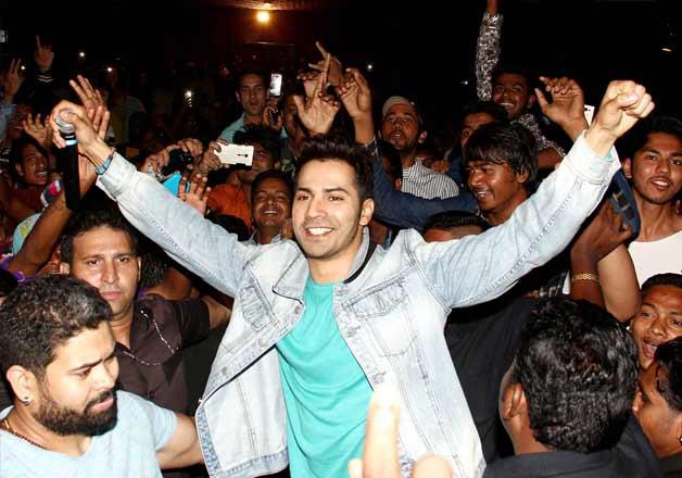 Varun Dhawan promotes Badlapur at Gaiety Cinema