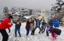 Fog and snowfall grips India