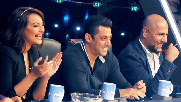Salman Khan on the sets of Indian Idol Junior